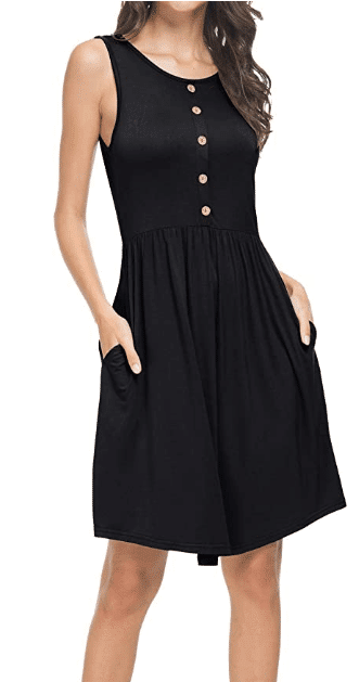 sleeveless casual little black dress from amazon