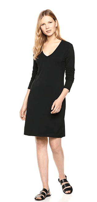 long sleeve jersey dress from Amazon