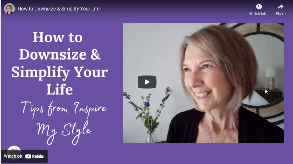 how to downsize and simplify your life - video