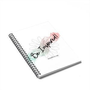 Be Inspired! Spiral notebook with lined pages