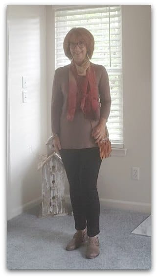 Cute and colorful outfit for fall or winter