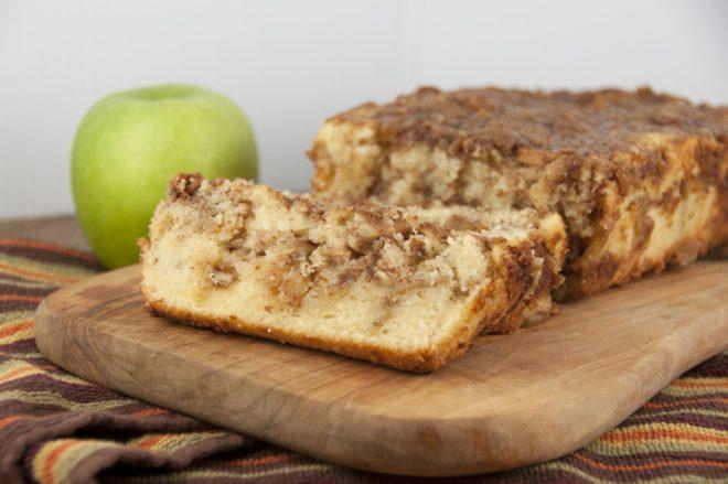 Cinnamon Apple Pie Bread from WishesnDishes.