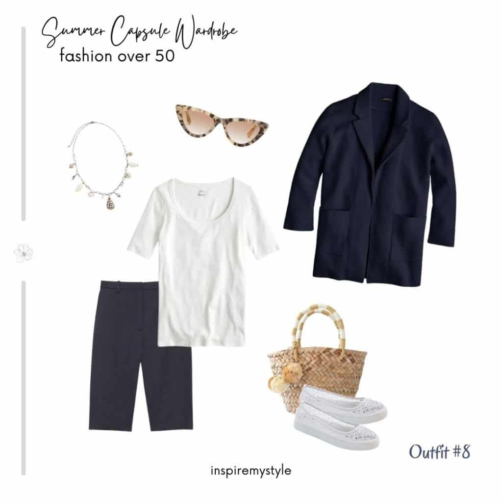 casual outfit from a summer capsule wardrobe