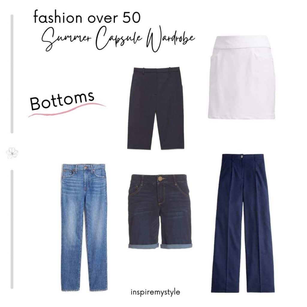 bottom pieces in my capsule wardrobe