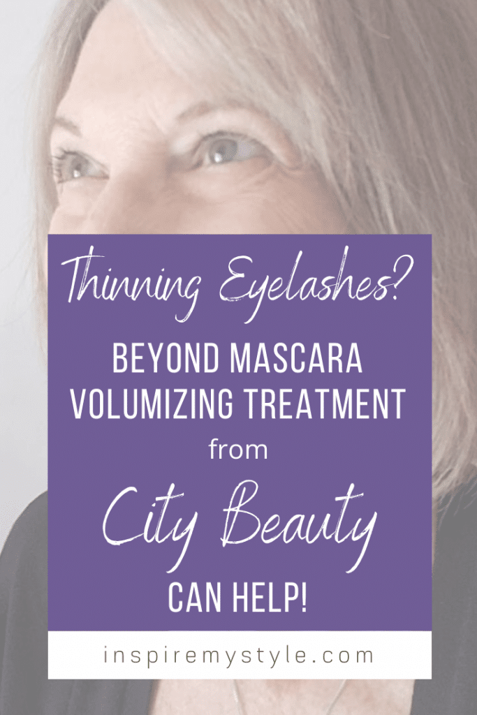 Thinning eyelashes with age? Learn more about Beyond Mascara Volumizing Treatment from City Beauty