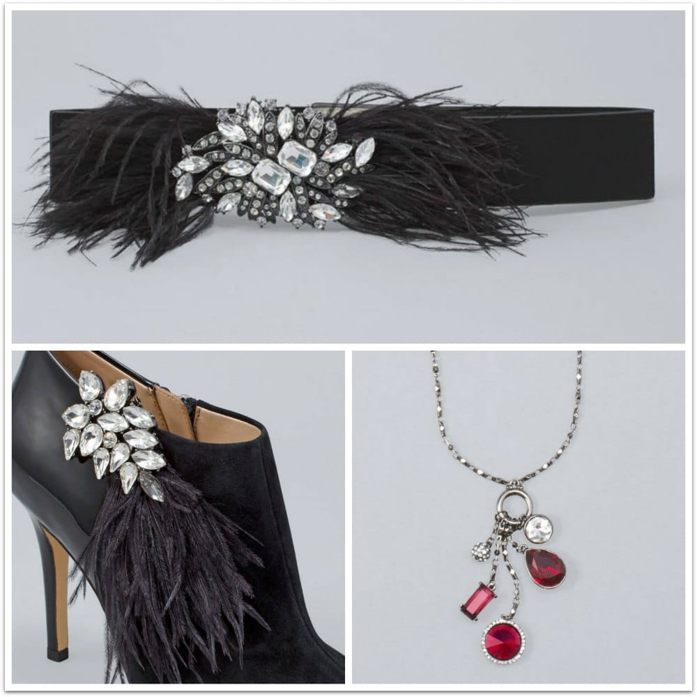 holiday accessories for little black dresses