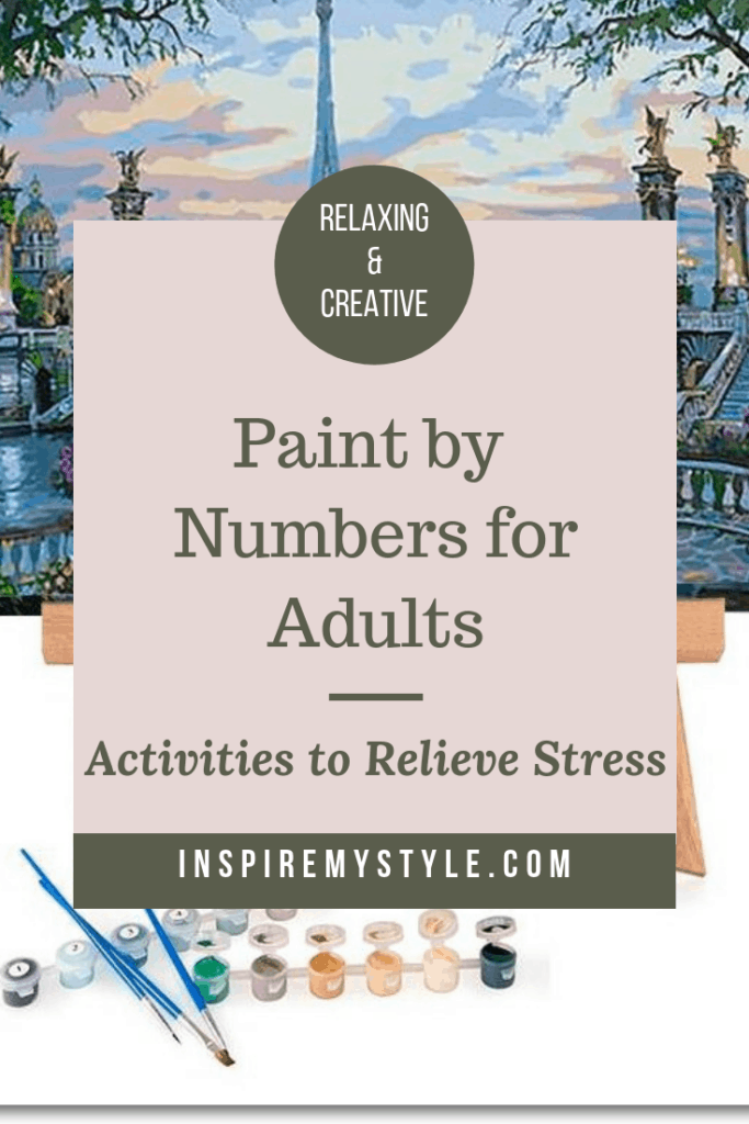 Activities to relieve stress with adult paint by numbers