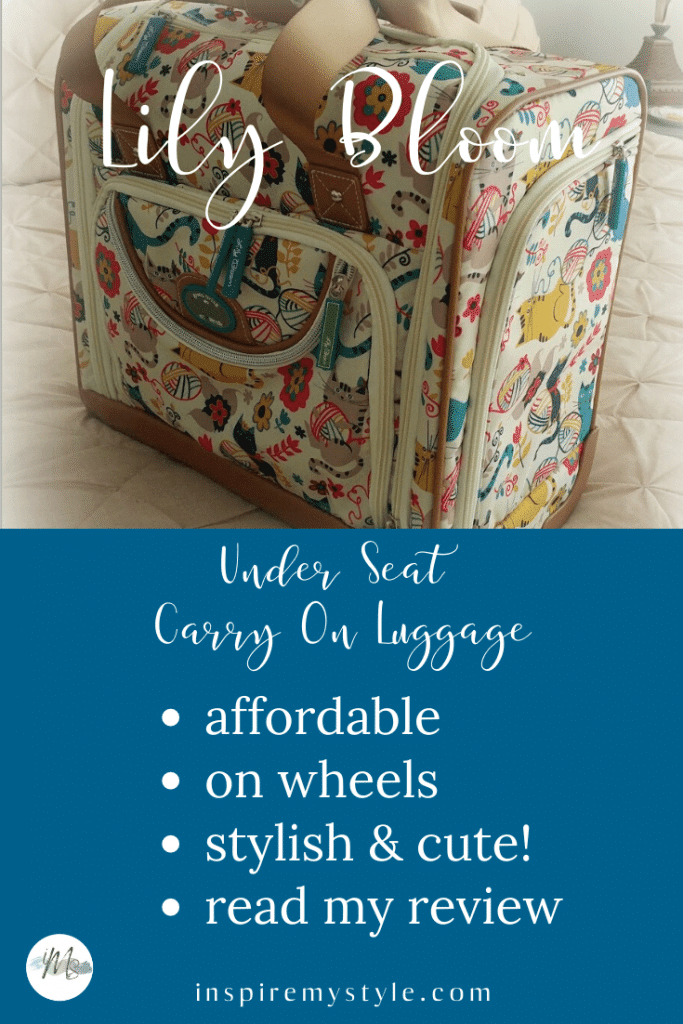 best underseat carry on luggage from Lily Bloom - read my review