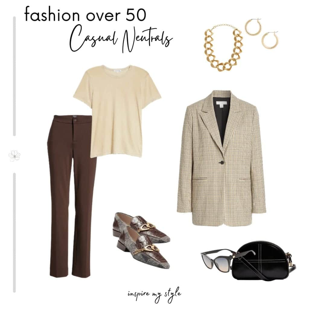 how to wear neutral colors in casual fashion for women