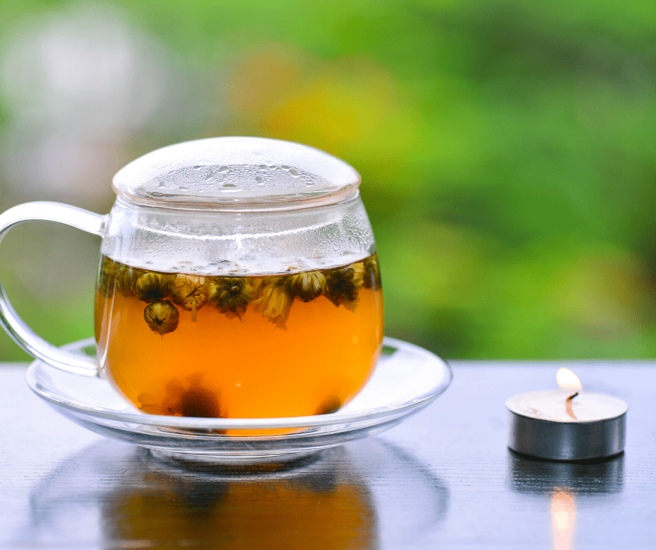 drinking chamomile tea can help relieve anxiety