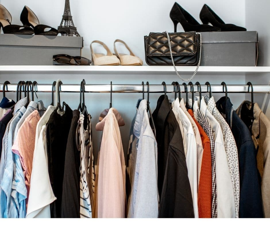 evaluate the colors in your closet to create outfits that will transition from summer to fall