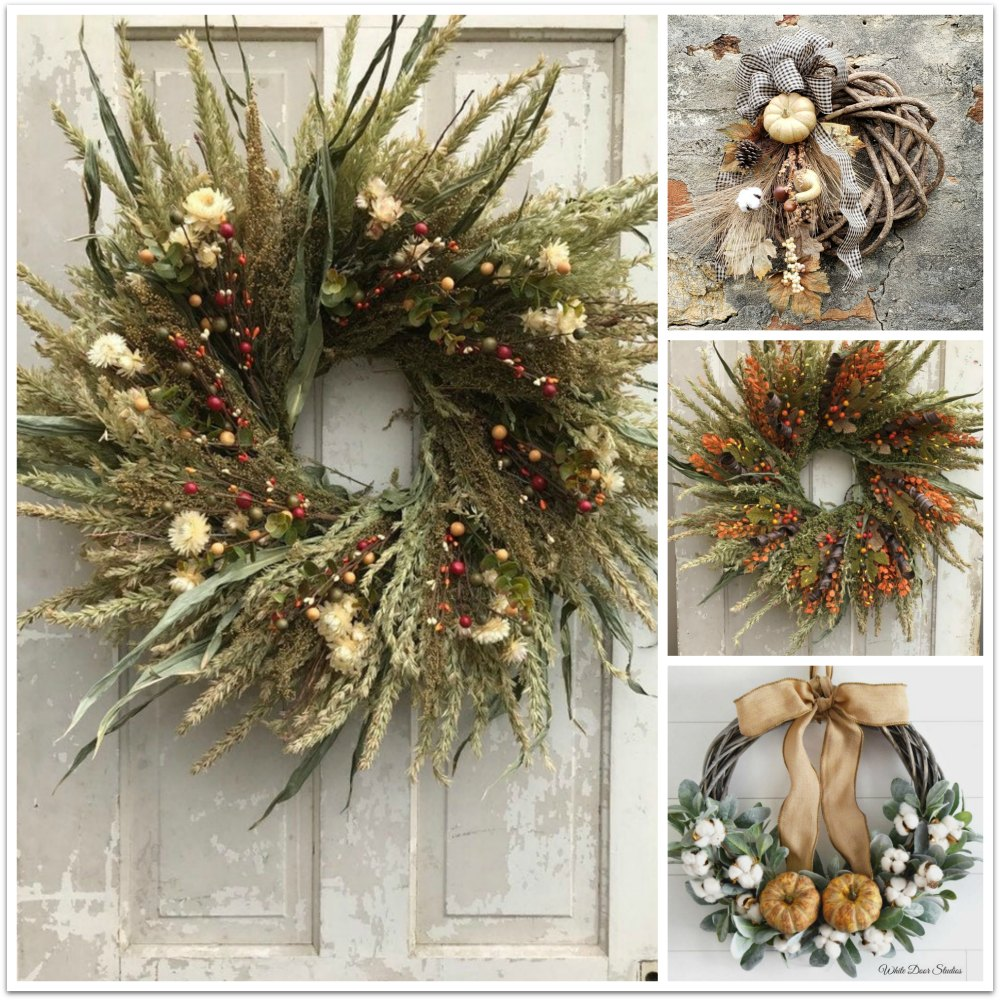 Fall wreathes handmade from Etsy