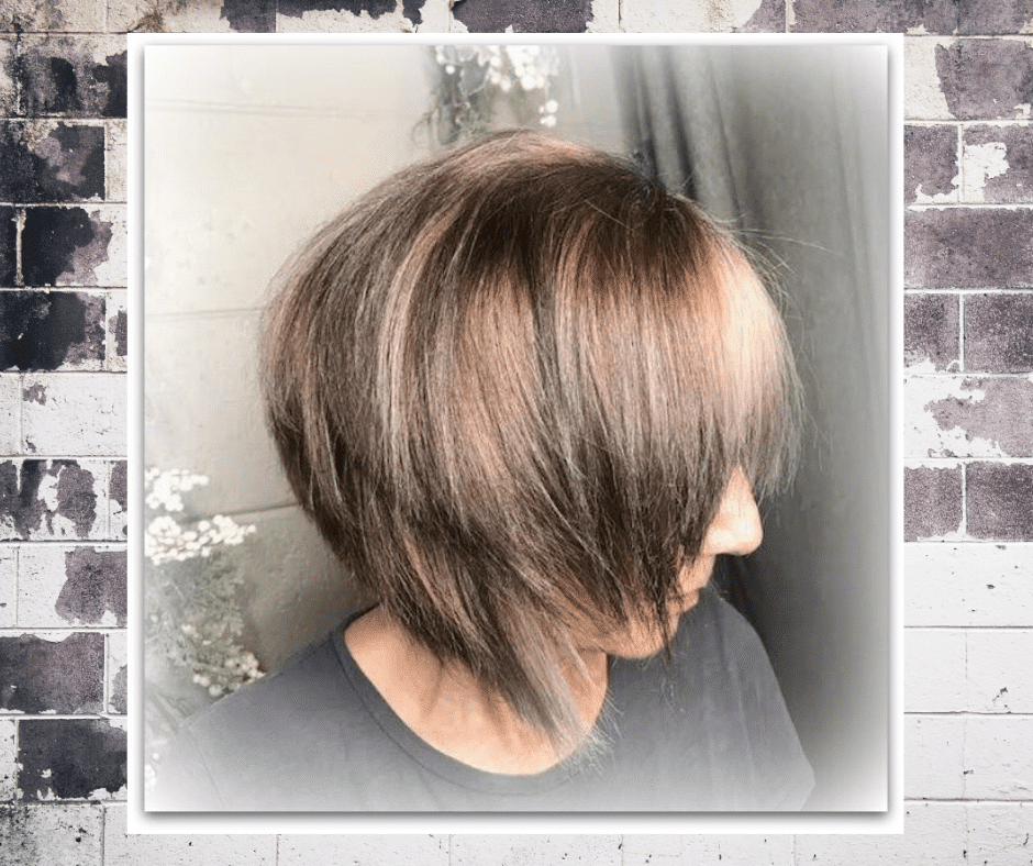 gray hair transition may include highlights and lowlights