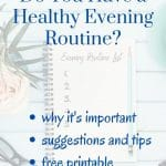 ideas for a healthy evening routine
