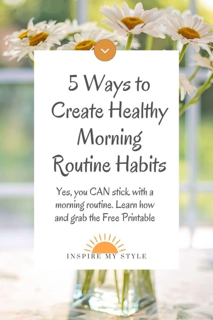 how to create healthy morning routine habits