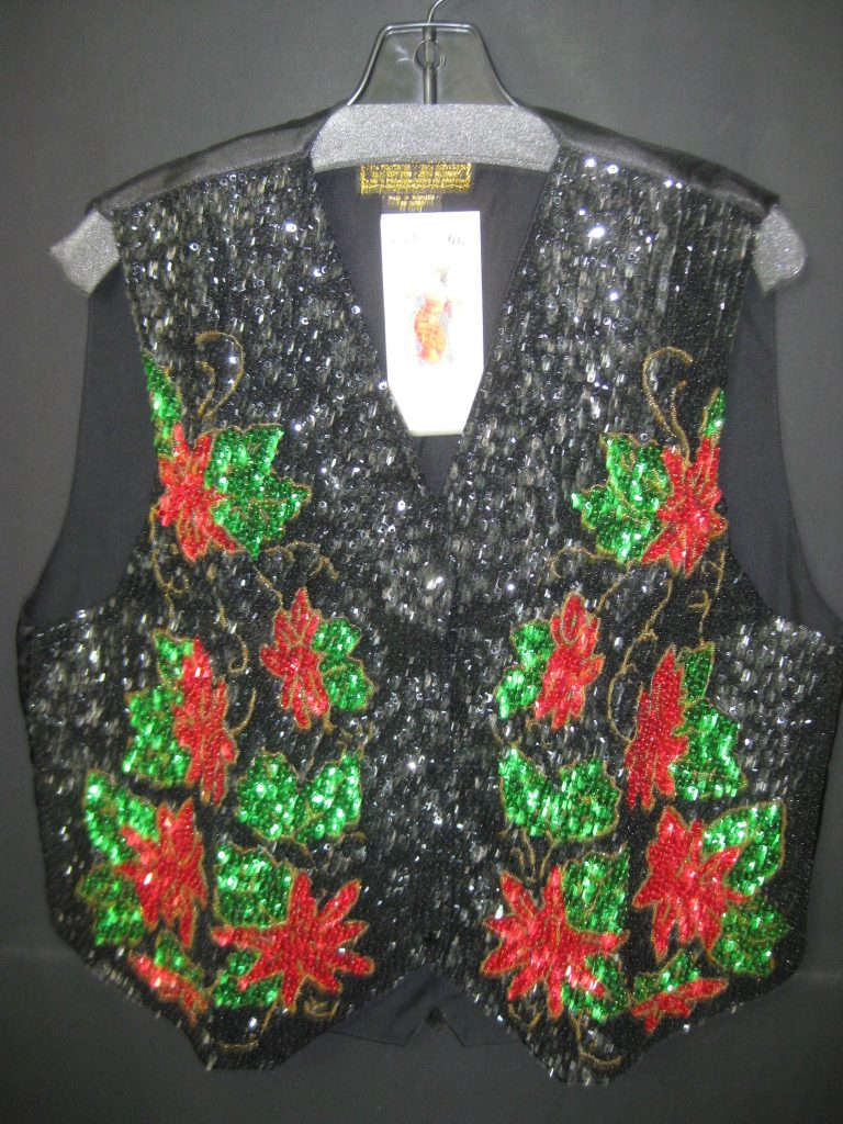 A time to celebrate the holidays with a beaded vest