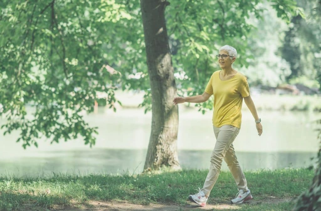 how many steps per day is active for women over 50