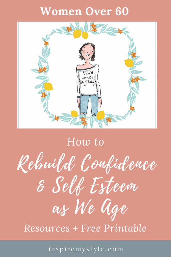 how to rebuild confidence and self esteem in your 60s
