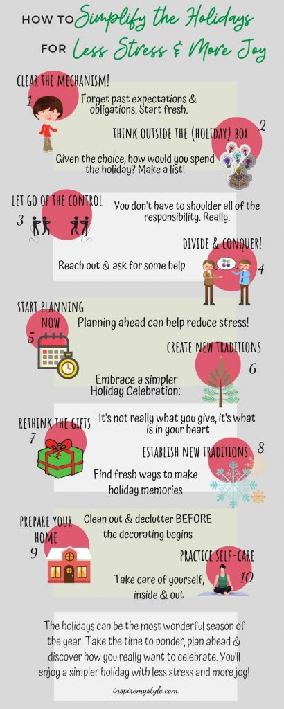 How to Simplify the Holidays for less stress and more joy