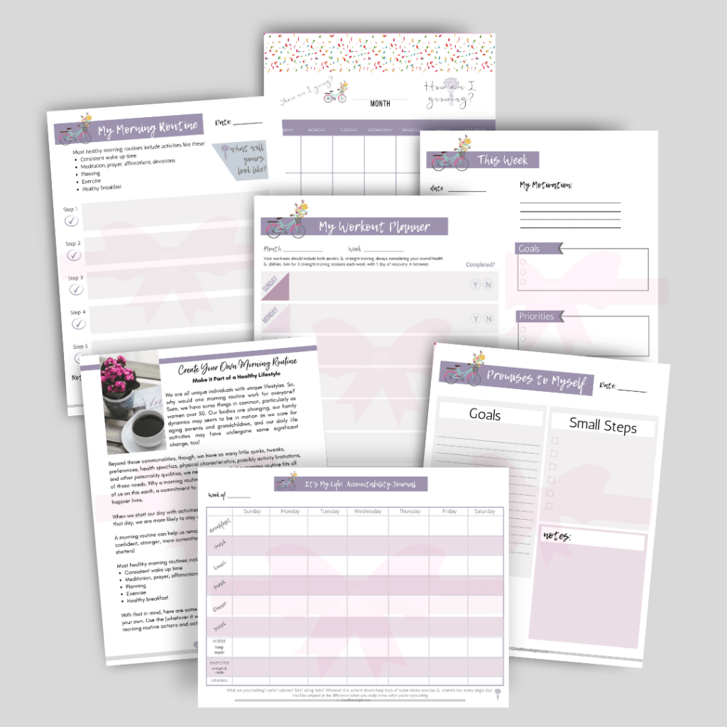Inspired Living printable set for women over 50