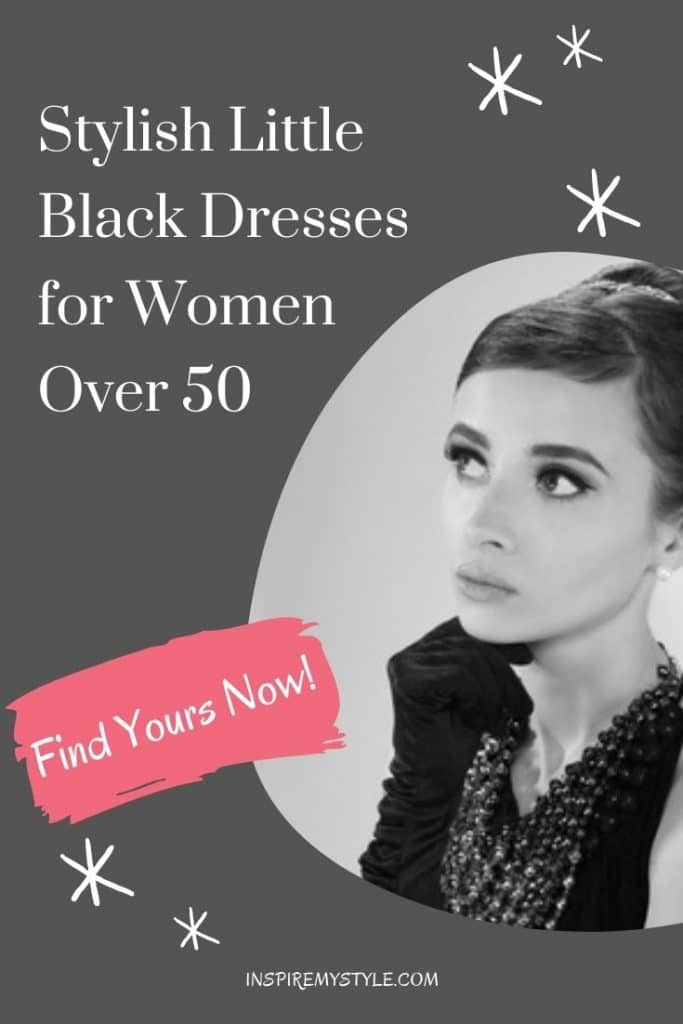 perfect little black dresses for over 50 and over 60 women
