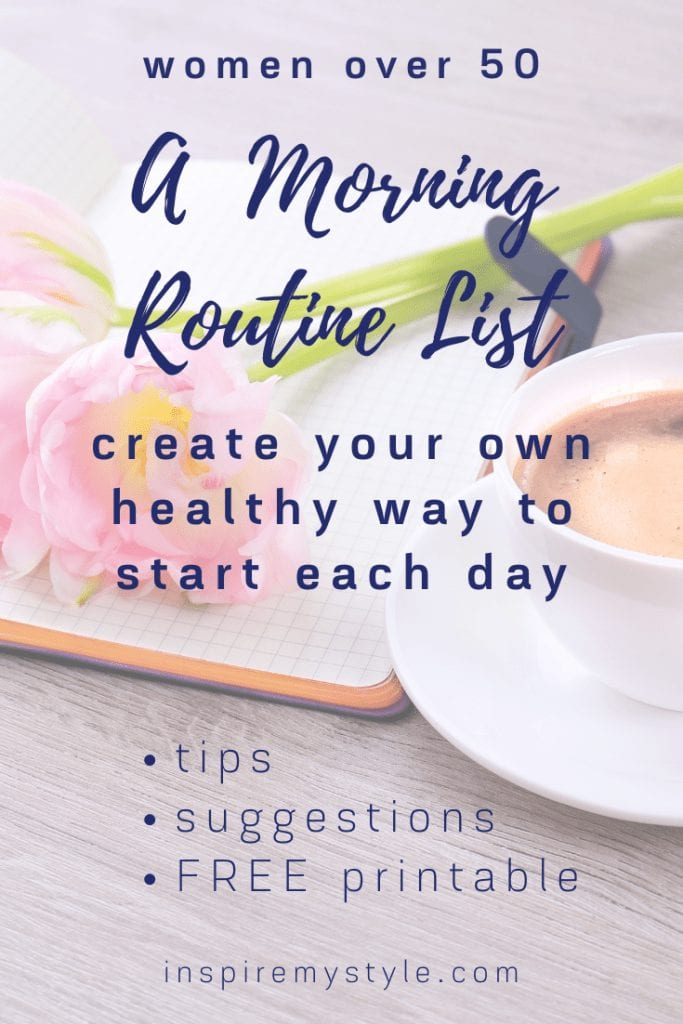 a morning routine list for women over 50