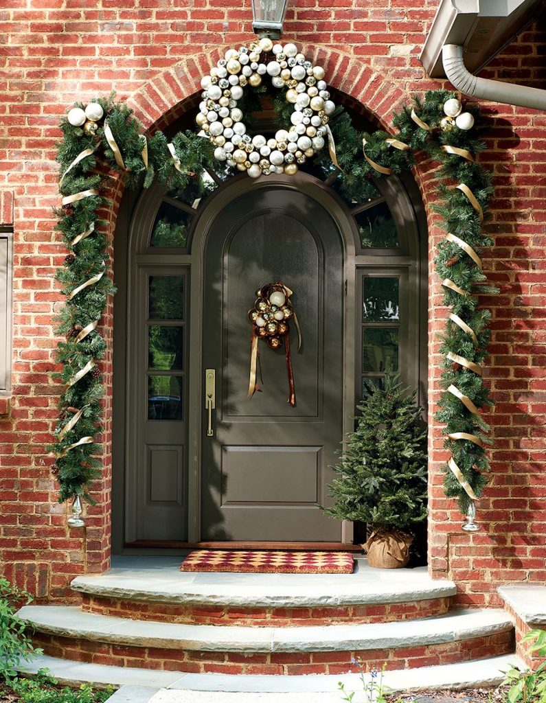holiday front doors and other decor from Ballard Designs