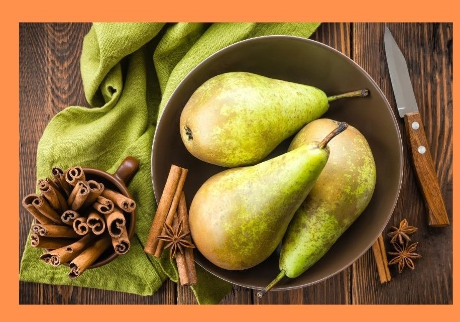 pears are in season from fall through winter