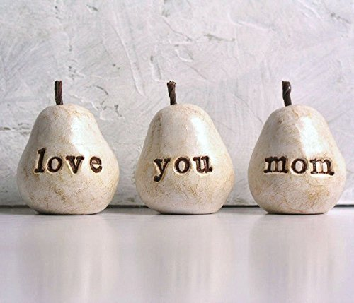Handmade Love You Mom pear set gift idea
