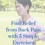 exercises to reduce back pain