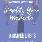 how to simplify your wardrobe after 60