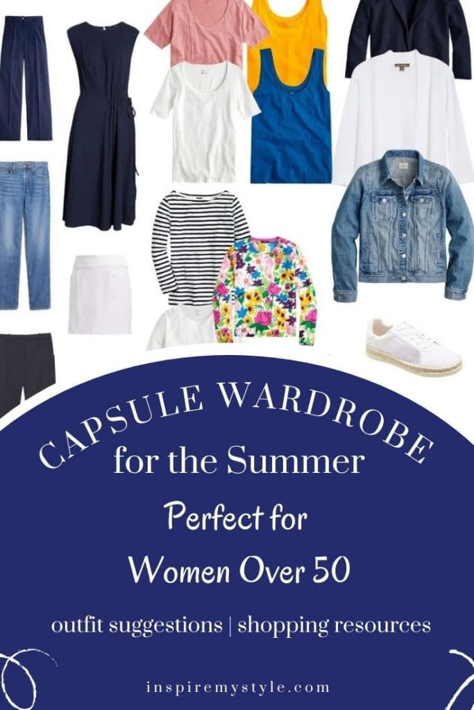 summer capsule wardrobe for women over 50