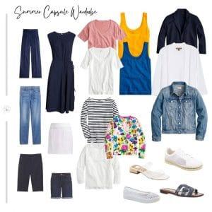 summer capsule wardrobe for women over 50