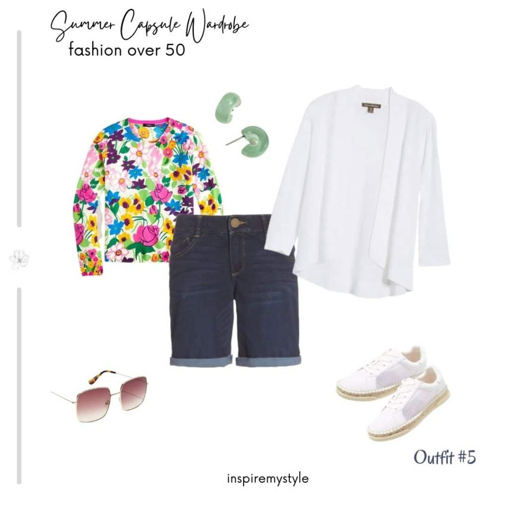 summer capsule wardrobe outfit suggestion