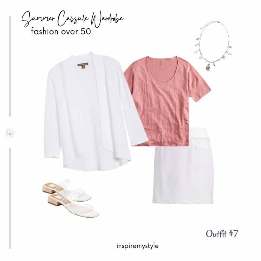 womens summer capsule wardrobe outfit suggestion