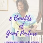 benefits of good posture for women over 50