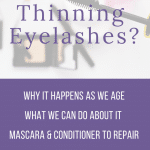 Women over 50 experiencing thinning eyelashes with age